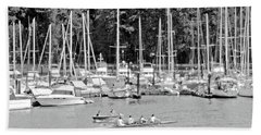Vancouver Marina No. 1-1 Beach Towel by Sandy Taylor