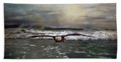 Victory Bald Eagle Art Beach Towel by Jai Johnson