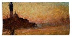 View Of San Giorgio Maggiore Beach Towel by Claude Monet