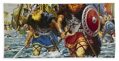 Vikings Beach Sheet by Jack Keay