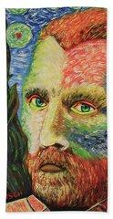 Vincent Van Gogh Beach Towel by Robert Kirsch