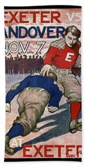 Vintage College Football Exeter Andover Beach Towel by Edward Fielding