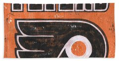 Vintage Flyers Sign Beach Towel by Debbie DeWitt