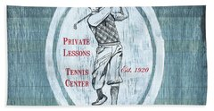 Vintage Golf Blue 2 Beach Towel by Debbie DeWitt