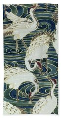 Vintage Wallpaper Design Beach Towel by English School