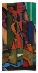 Violin And Guitar Beach Sheet by Juan Gris