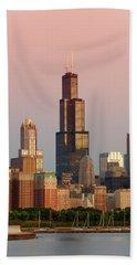Wake Up Chicago Beach Towel by Sebastian Musial