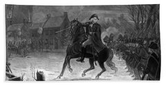 Washington At The Battle Of Trenton Beach Towel by War Is Hell Store