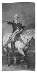 Washington Receiving A Salute At Trenton Beach Towel by War Is Hell Store