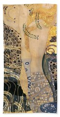 Water Serpents I Beach Towel by Gustav klimt