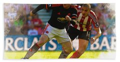 Wayne Rooney Is Marshalled Beach Towel by Don Kuing