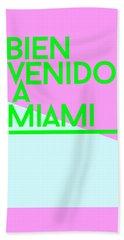 welcome to Miami Beach Towel by Cortney Herron