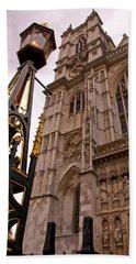Westminster Abbey London England Beach Towel by Jon Berghoff