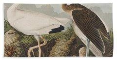 White Ibis Beach Towel by John James Audubon