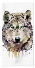 Wolf Head Beach Towel by Marian Voicu
