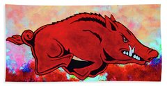 Woo Pig Sooie 3 Beach Sheet by Belinda Nagy
