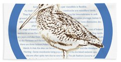 Woodcock Beach Towel by Greg Joens