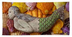 Wooden Mermaid Beach Sheet by Garry Gay