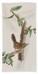 Wren Beach Towel by John James Audubon