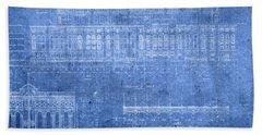 Yankee Stadium New York City Blueprints Beach Towel by Design Turnpike