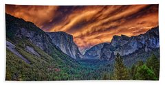 Yosemite Fire Beach Sheet by Rick Berk