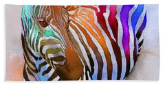 Zebra Dreams Beach Sheet by Galen Hazelhofer
