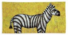 Zebra Beach Towel by Kelly Jade King