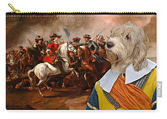 Petit Basset Griffon Vendeen Art Canvas Print  Carry-all Pouch by Sandra Sij