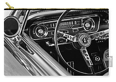 1965 Shelby Prototype Ford Mustang Steering Wheel Carry-all Pouch by Jill Reger