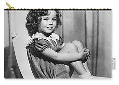Actress Shirley Temple Carry-all Pouch by Underwood Archives