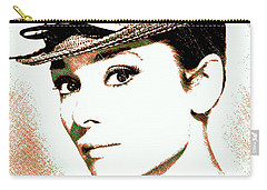 Audrey Hepburn Carry-all Pouch by Dan Sproul