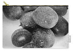 Baby Kiwi With Blake And White Text Distressed Carry-all Pouch by Iris Richardson