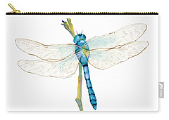 Blue Dragonfly Carry-all Pouch by Amy Kirkpatrick