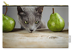 Cat And Pears Carry-all Pouch by Nailia Schwarz