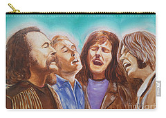 Crosby Stills Nash And Young Carry-all Pouch by Kean Butterfield