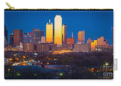 Dallas Skyline Carry-all Pouch by Inge Johnsson