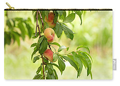 Donut Peaches Carry-all Pouch by Iris Richardson