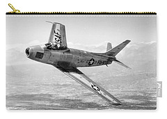 Carry-all Pouch featuring the photograph F-86 Sabre, First Swept-wing Fighter by Science Source
