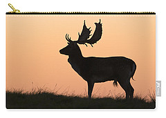 Fallow Deer Buck At Sunset Denmark Carry-all Pouch by Duncan Usher