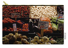 Fruits And Vegetables At A Market Carry-all Pouch by Panoramic Images