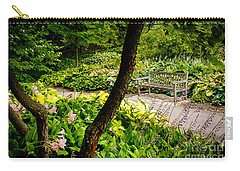 Garden Bench Carry-all Pouch by Joe Mamer