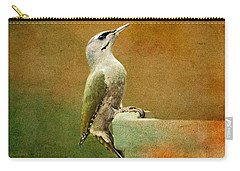 Grey-headed Woodpecker Carry-all Pouch by Heike Hultsch