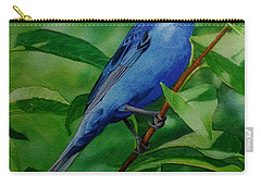 Indigo Bunting Carry-all Pouch by Ken Everett