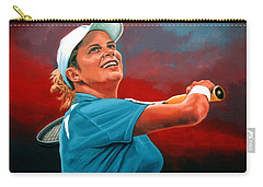 Kim Clijsters Carry-all Pouch by Paul Meijering