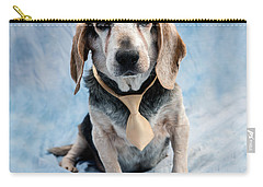 Kippy Beagle Senior And Best Dog Ever Carry-all Pouch by Iris Richardson