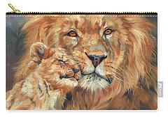 Lion Love Carry-all Pouch by David Stribbling