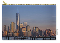 Lower Manhattan Skyline Carry-all Pouch by Susan Candelario