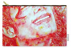 Michael Jackson - Watercolor Portrait.2 Carry-all Pouch by Fabrizio Cassetta