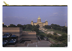 Panoramic View Of Iowa State Capitol Carry-all Pouch by Panoramic Images