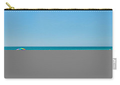 People On The Beach, Venice Beach, Gulf Carry-all Pouch by Panoramic Images
